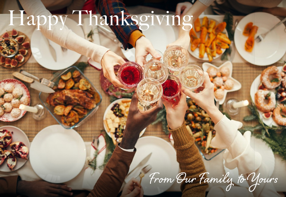 Happt Thanksgiving from Our Family to Yours